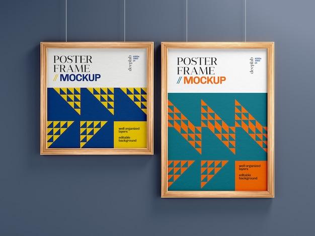 Vierkant en verticaal affichekader