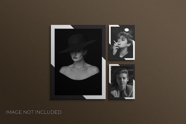Vierkant filmpapier frame mockup photoshop
