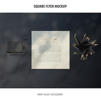 Vierkant flyer mockup