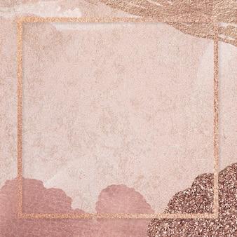 Vierkant frame op neo memphis sociale achtergrond mockup