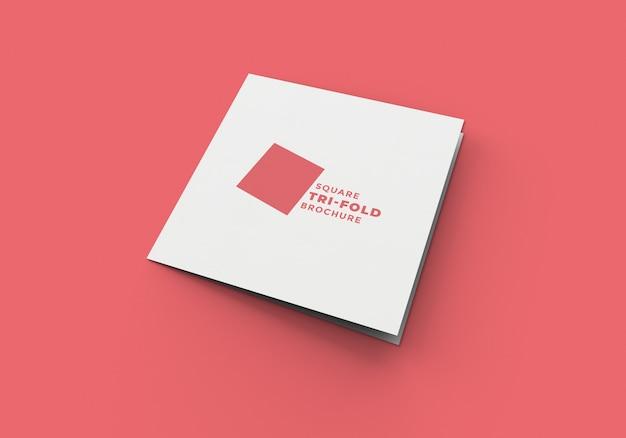 Vierkant gevouwen brochuremodel
