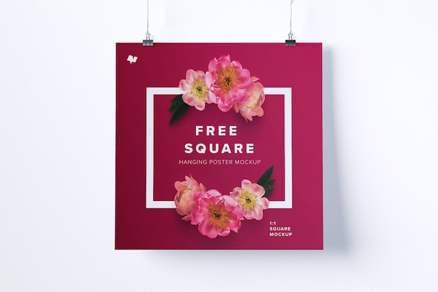 Vierkant hangend affichemodel