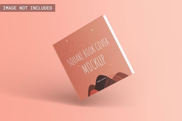 Vierkant hardcover boekmodel vooraanzicht zwevend