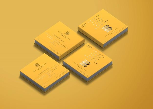Vierkant hardcover boekmodel