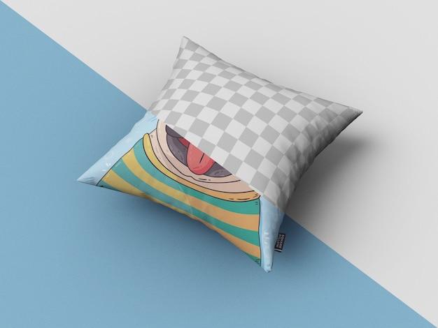 Vierkant kussen mockup