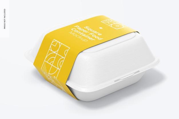 Vierkant papieren voedselcontainermodel