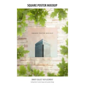 Vierkant poster mockup