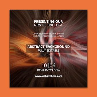 Vierkant postmalplaatje met abstracte technologieachtergrond