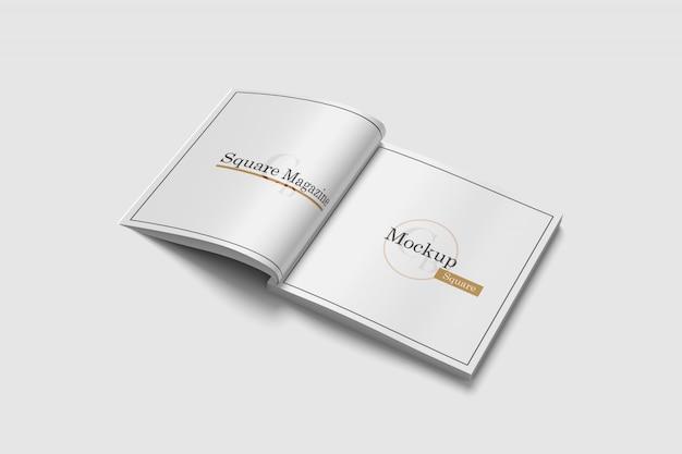 Vierkant tijdschriftmockup