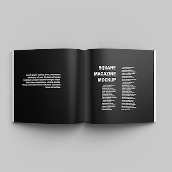 Vierkant tijdschriftomslag mockup-ontwerp