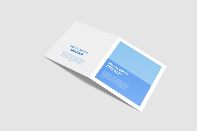 Vierkant tweevoudig brochure mockup geïsoleerd