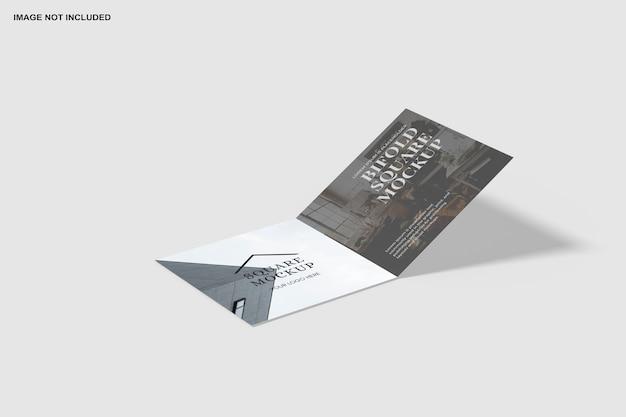 Vierkant tweevoudig uitnodigingsmodel