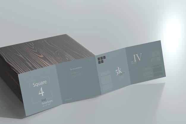 Vierkant viervoudig brochuremodel