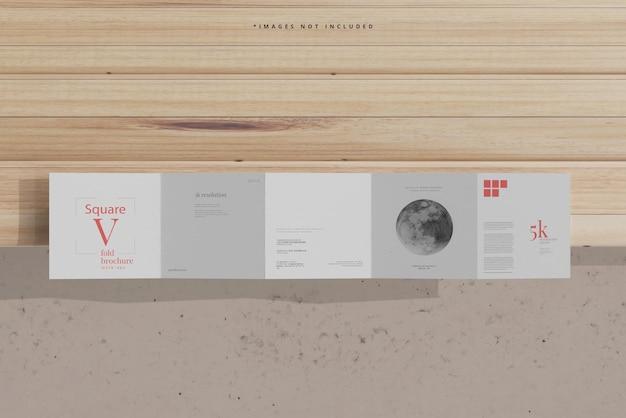 Vierkant vijfvoudig brochuremodel
