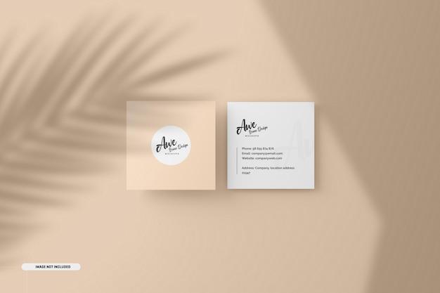 Vierkant visitekaartje met schaduw-overlay