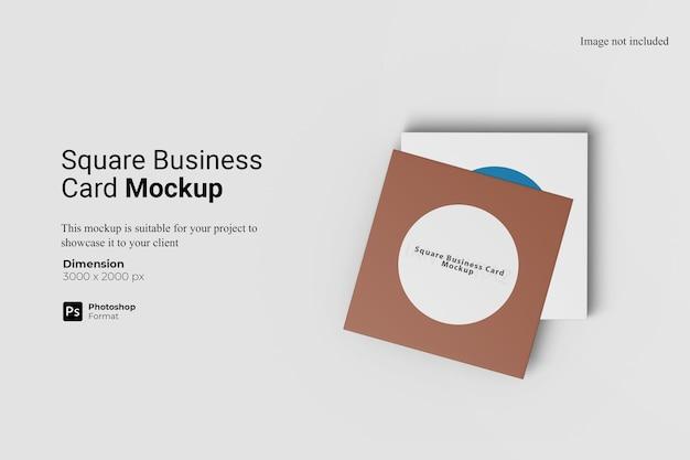 Vierkant visitekaartje mockup ontwerp