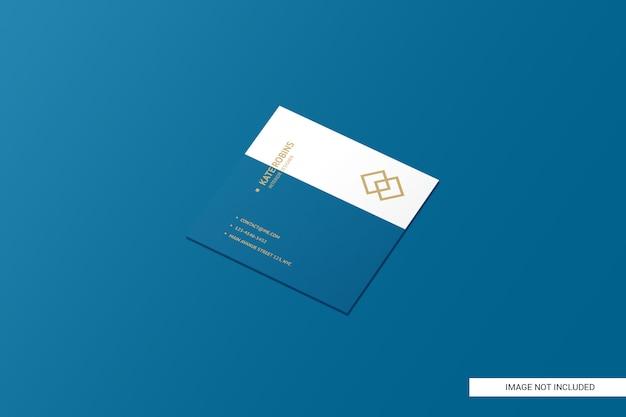Vierkant visitekaartje mockup