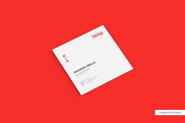 Vierkant visitekaartje