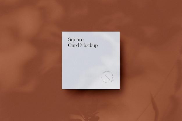 Vierkant visitekaartjemodel met schaduwoverlay