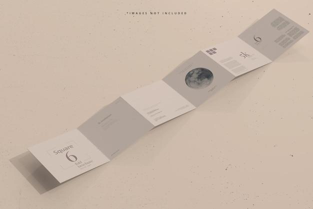 Vierkant zesvoudig brochuremodel