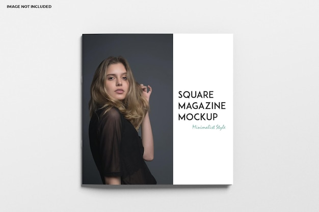 Vierkante brochure en catalogusomslagmodel