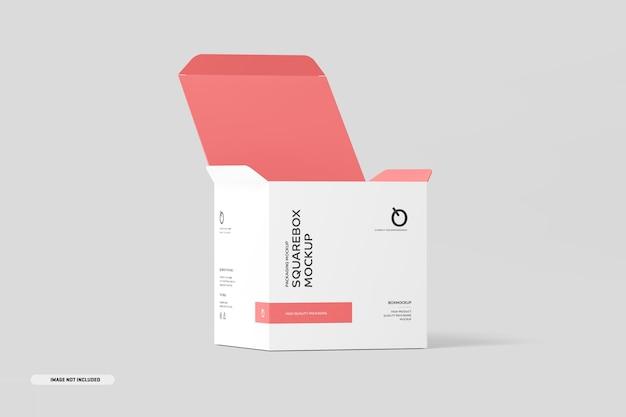 Vierkante doos mockup