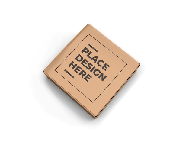Vierkante doos verpakking mockup geïsoleerd