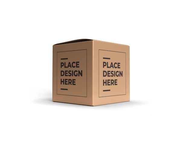 Vierkante doos verpakking mockup ontwerp geïsoleerd