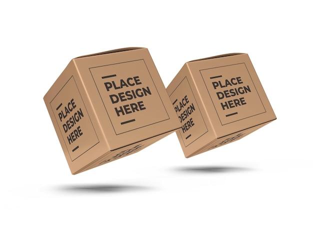 Vierkante doos verpakking mockup