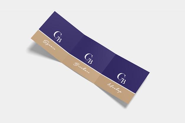 Vierkante driebladige brochure mockup