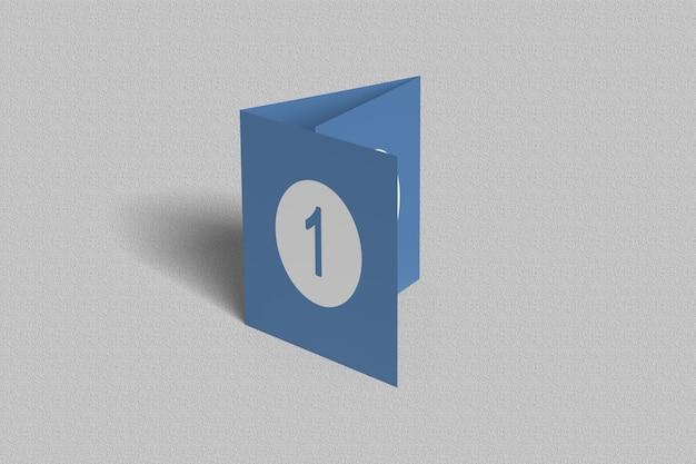 Vierkante driebladige brochure mockups