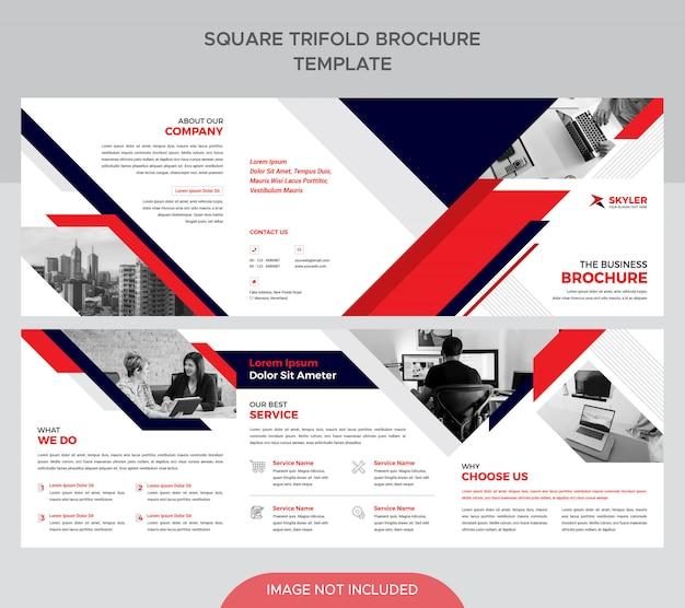 Vierkante driebladige brochure sjabloon