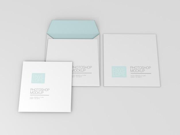 Vierkante envelop mockup