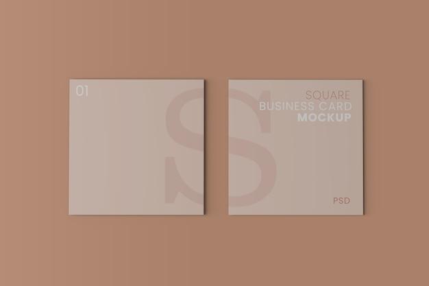 Vierkante envelop visitekaartje mockup