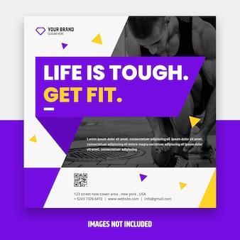 Vierkante fitness flyer