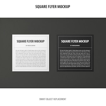 Vierkante flyer mockup