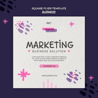 Vierkante flyer-sjabloon voor marketingbureau