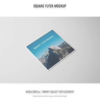 Vierkante folder, wenskaart, uitnodigingsmodel