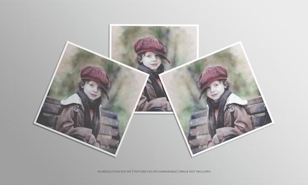 Vierkante fotolijst mockup