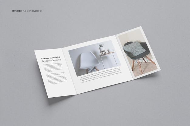 Vierkante gate fold brochure mockup
