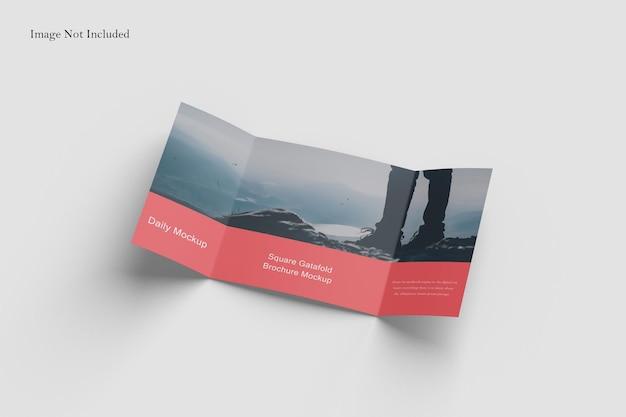 Vierkante gatefold brochure mockup design