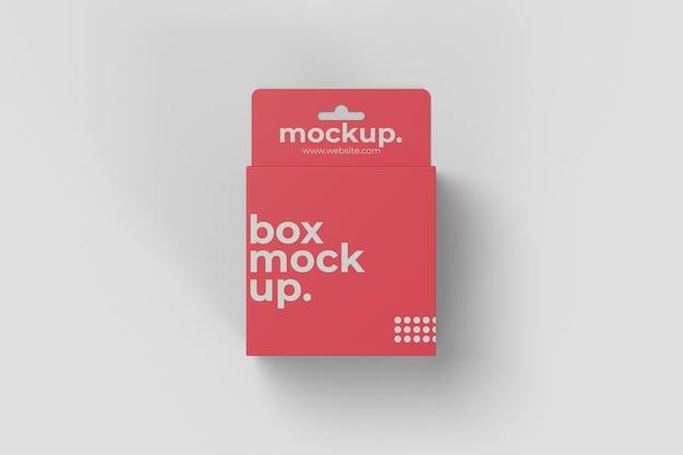 Vierkante hangende doos mockup vooraanzicht