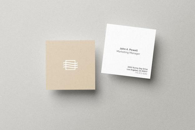 Vierkante kaart mockup