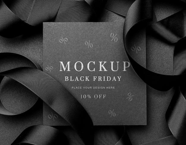 Vierkante kaart zwarte vrijdag verkoop mock-up