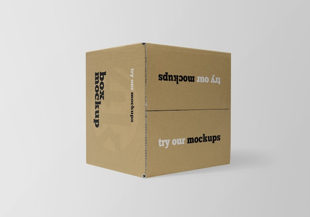 Vierkante kartonnen doos mockup