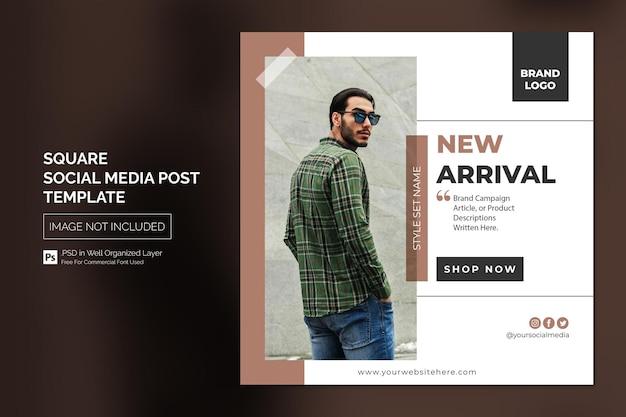 Vierkante sociale media instagram post of websjabloon voor spandoek met kop ontwerpconcept