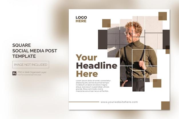 Vierkante sociale media instagram post of websjabloon voor spandoek