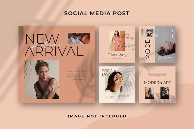 Vierkante sociale media plaatsen instagram-sjabloon