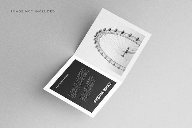 Vierkante tweevoudige brochuremodel