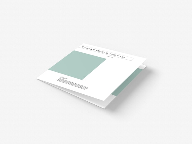 Vierkante tweevoudige mockup